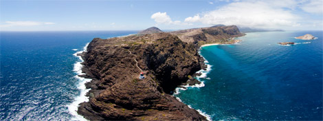 Makapuu Lighthouse Aerial 360