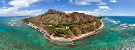 Diamond Head Lighthouse Aerial 360